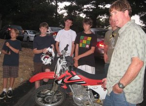 Boys bike airgun
