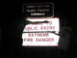 Rustic Canyon Entrance