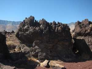 Fossil Falls parking lot