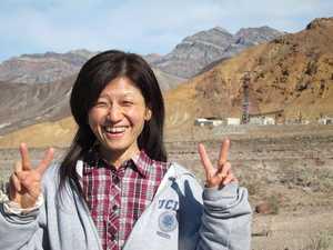 Kyoko at the mine
