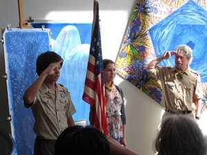 Color Guard leads the Pledge