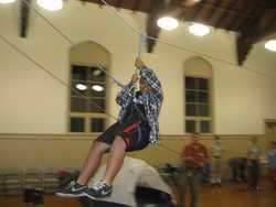 Miles on the zipline