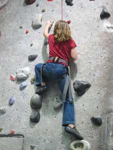 Eva climbs