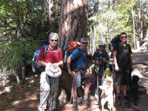Brave Tahquitz explorers, men and dogs