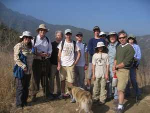Webelos hike crew on the ridge by the tree