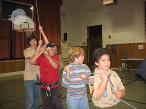 Highlight for Album: Webelos Visit November 2005